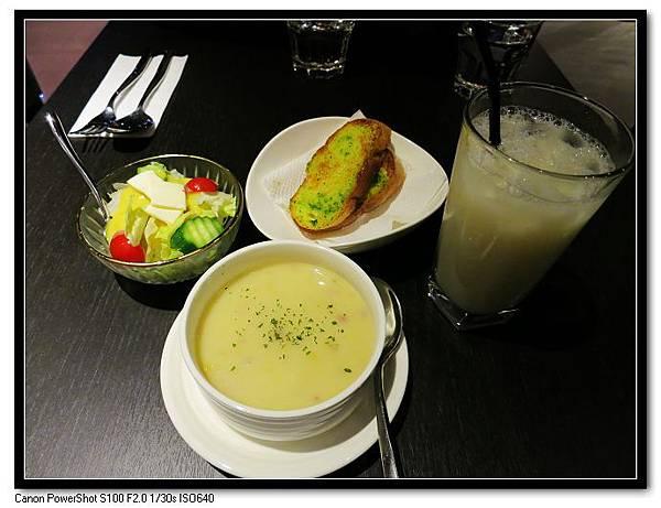 主餐+70元升級套餐(濃湯.沙拉.飲料)