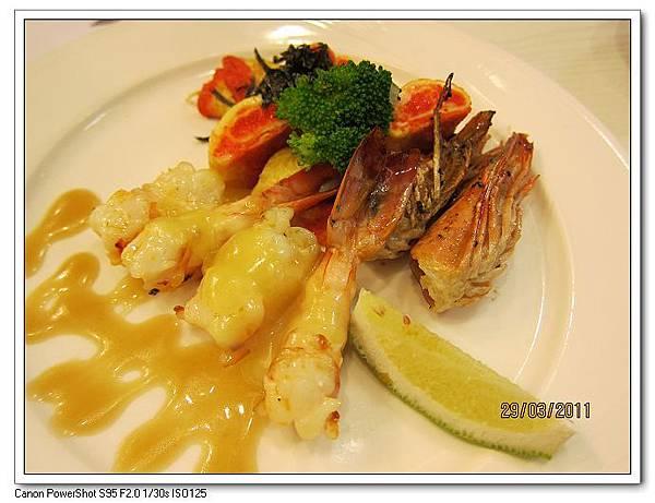 起司焗大蝦&蝦蛋捲