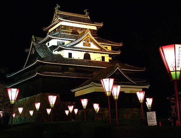 夜景2 Matsue Castle at Night 2