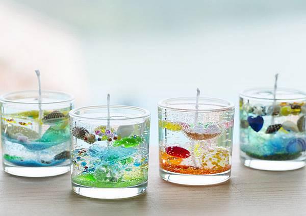 獨創貝殼蠟燭 貝殻のジェルキャンドル作り