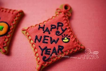 紅咚咚新年小餅-happy