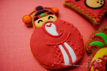 紅咚咚新年小餅-財神爺