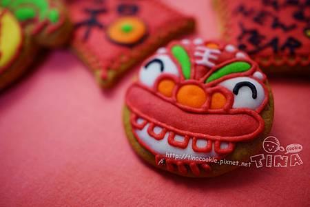 紅咚咚新年小餅-舞龍舞獅