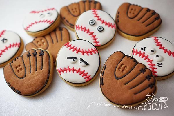 客製-(球類餅乾)棒球+手套