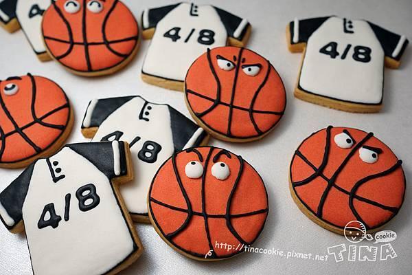 客製-(球類餅乾)籃球+球衣