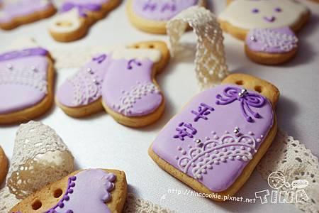 客製-(收涎)粉紫蕾絲2