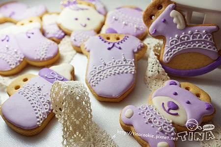 客製-(收涎)粉紫蕾絲3