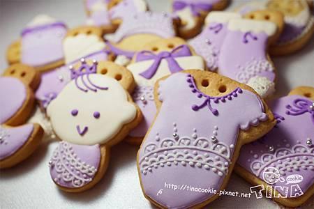 客製-(收涎)粉紫蕾絲4