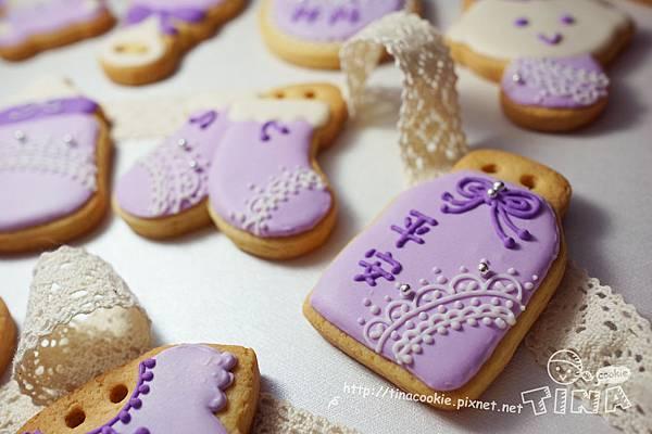 F3收涎小餅-蕾絲寶寶版(粉紫)