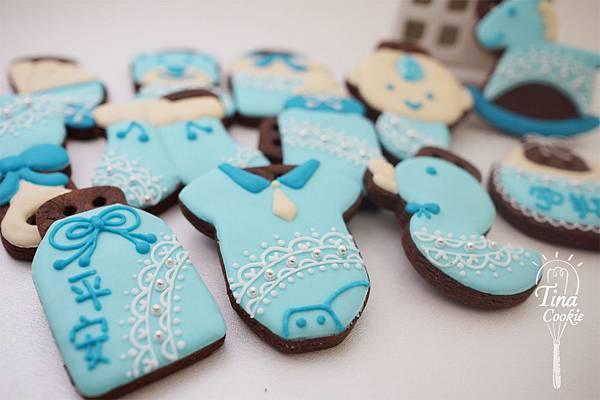 F4收涎小餅-蕾絲寶寶版(粉藍)