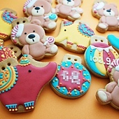 客製-大象+熊熊收涎小餅拷貝