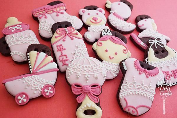F6收涎小餅-蕾絲寶寶版(粉紅)
