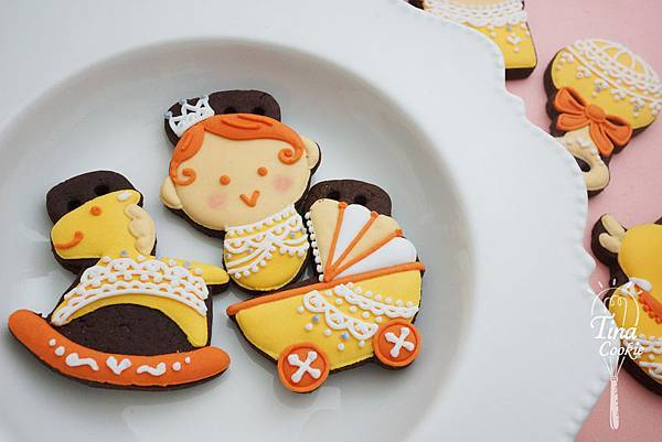 F5收涎小餅-蕾絲寶寶版(粉黃)