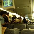 機內準備下機的情景