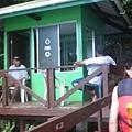 進入水母湖前的檢查站
