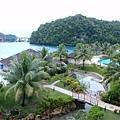 從陽台看帛琉的清晨