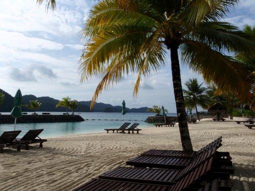 沙灘,椰林...