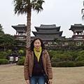 在濟洲島的某寺前