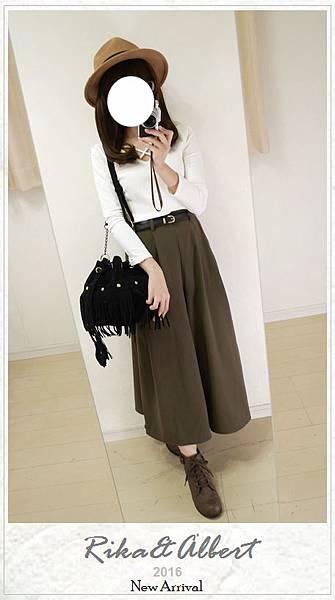 RETRO GALLERY氣質垂墜寬褲裙+皮帶SET.JPG
