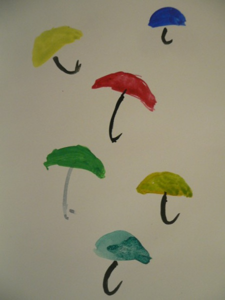 用雨傘當色票