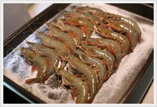 外婆弄的鹽烤蝦