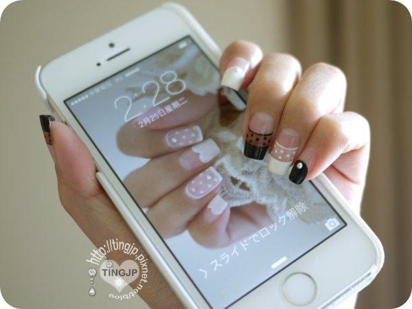 手機待機畫面是上一篇的天使光圈透膚指彩