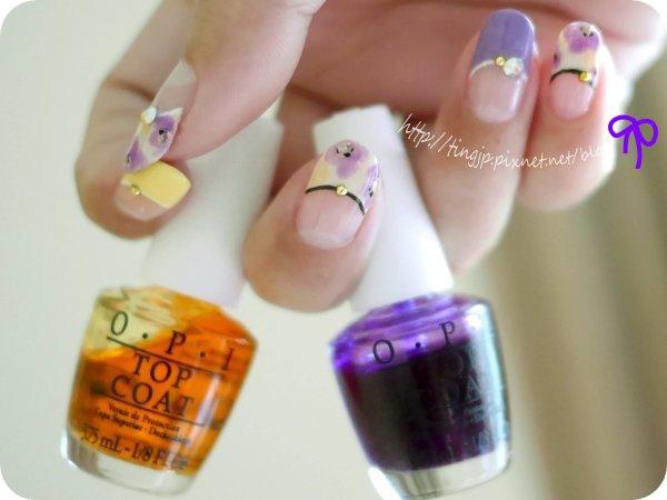 OPI #S01果凍黃+S03果凍紫