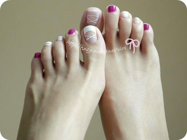 腳上是芭蕾舞鞋指彩