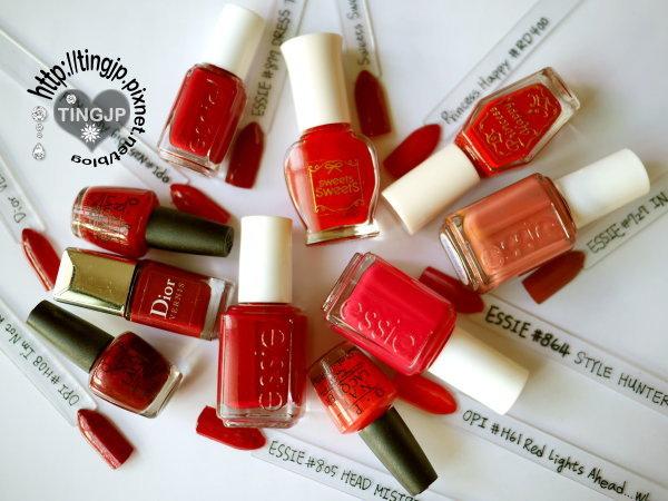 紅色系指甲油