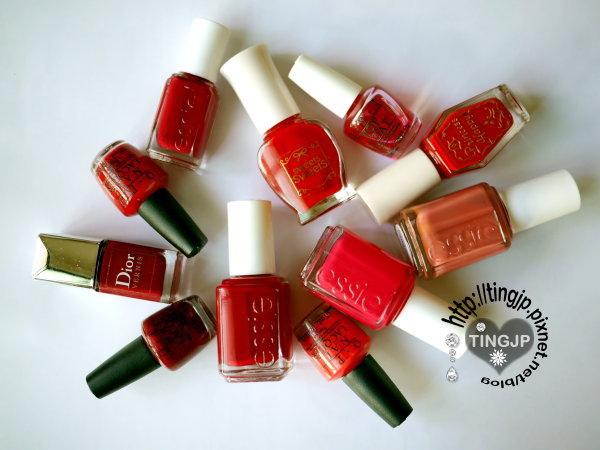 11罐紅色指甲油