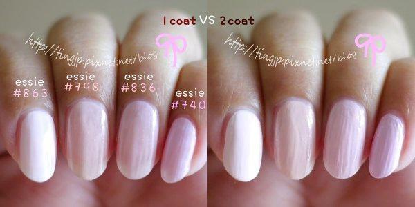 淺粉4色指甲試色