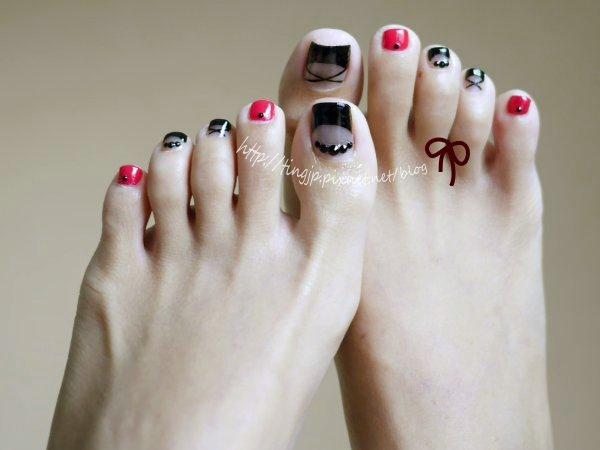 腳上有MIX舞鞋指彩