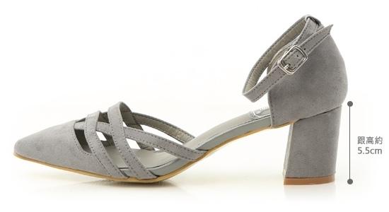 編織繫踝跟鞋