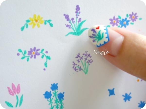 大拇指上的花