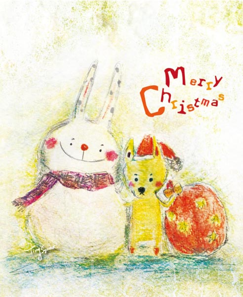 兔雪黃黃祝賀聖誕01