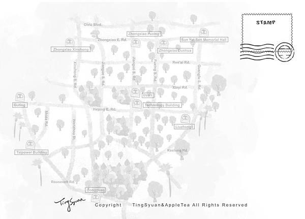 20120713{王少君}_卡之屋-大安區地圖-數位印刷超感細紋[完成尺寸148x105mm][台北自取]02
