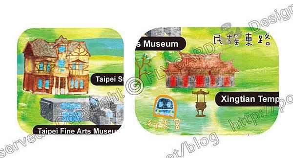 20121219 手繪 臺北市地圖-中山區03
