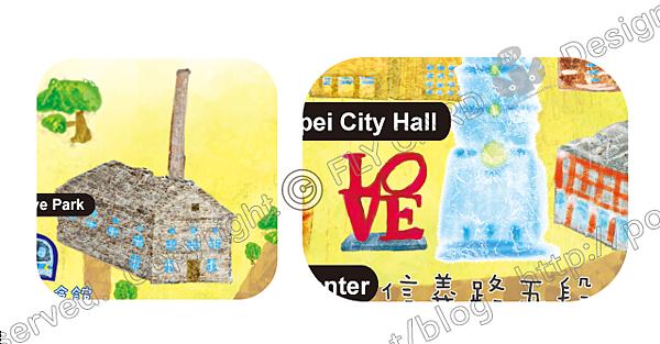 20120822 手繪 臺北市地圖-信義區03