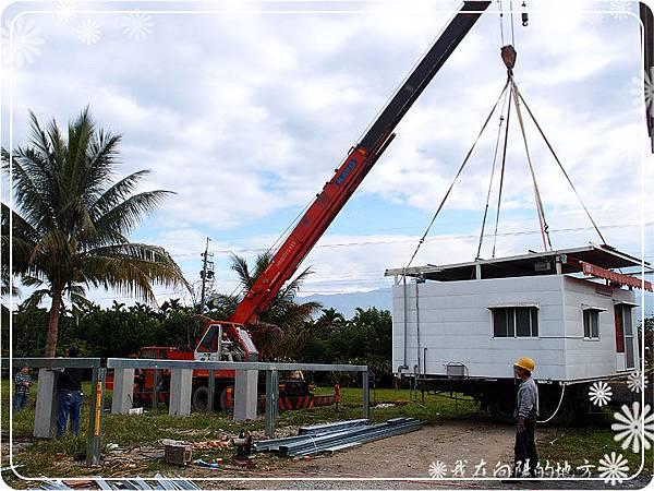 6_將貨櫃吊至架高基礎上