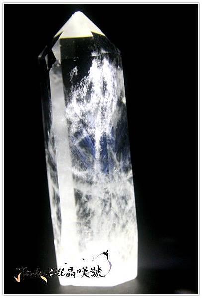 精靈藍針天使窗子水晶柱,秘境中有著神奇的顯化力量。