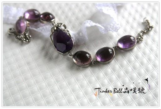 金字塔紫水晶+粉晶手鍊,用靈魂交織出苦澀與甜美的奇蹟享受。