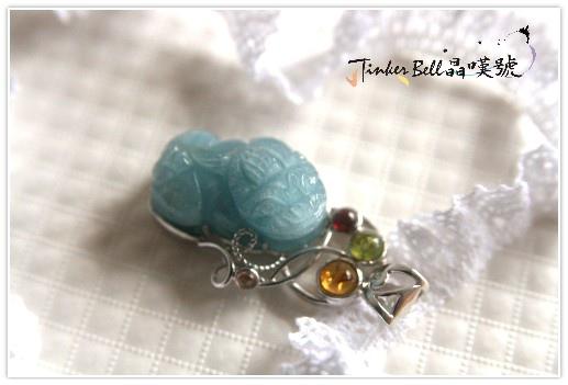 海水藍寶貔貅+黃晶+橄欖石+紅石榴石+粉碧璽,穩定順利,讓貴人靠過來,財福咬入袋!