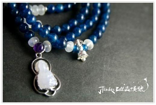 磷灰石+藍暈月光石+紫晶紫玉淨瓶觀音108顆,安頓內心進而產生更多正向能量!