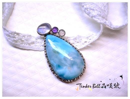 拉利瑪+月光石+紫晶+粉晶,泰然自若接收內在神性靈感!