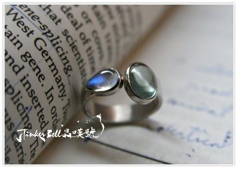 海水藍寶+藍暈月光石戒指,真誠說出理解自己的需求、用全新的自己通過。
