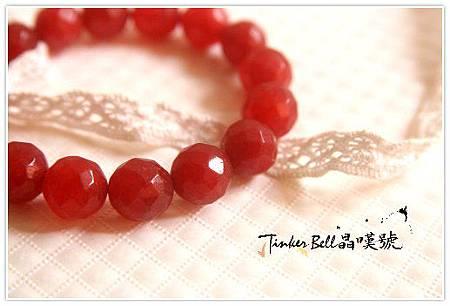 鑽切面紅寶石切鑽面手珠愛的翻譯...修復內在的尊貴價值,自尊自重的平衡感˙!