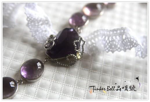金字塔幻影紫水晶+星星造型黃晶手鍊,迎接走出心靈的旋渦。