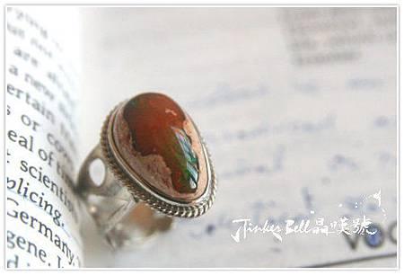橘火蛋白石+紫水晶魔法戒指,激發學習給人幸福的魔法。
