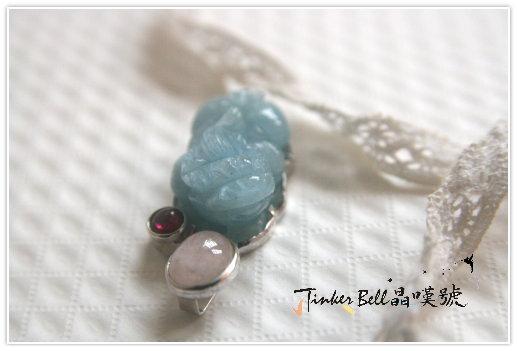 藍寶膍貅+粉晶+紅石榴石,以更高的意識狀態吸引富足並將它分享給他人,也是超凡的靈性修行。