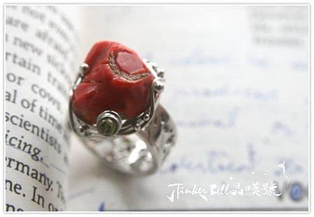 古老珊瑚+蛋白石魔法戒指,遠古時代的原住民醫者與薩滿巫士都知道礦石和植物具有靈性本質